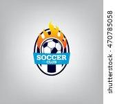 soccer logo emblem design... | Shutterstock .eps vector #470785058