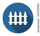 fence icon  vector  icon flat