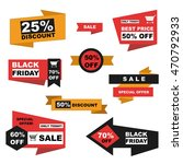 vector set of sale and  black... | Shutterstock .eps vector #470792933