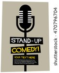 stand up comedy   flat style... | Shutterstock .eps vector #470796704