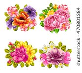 flower set | Shutterstock . vector #470801384