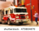 Blurred Image Of A Fire Engine...