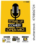stand up comedy open mic   flat ...   Shutterstock .eps vector #470806724