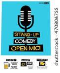 stand up comedy open mic   flat ... | Shutterstock .eps vector #470806733