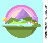 nature landscape in flat style | Shutterstock .eps vector #470807984