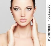 fashion beauty portrait of... | Shutterstock . vector #470811110
