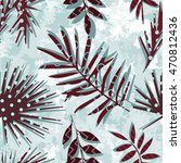 seamless pattern with tropical...   Shutterstock .eps vector #470812436