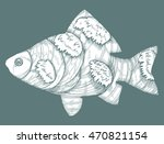 stylized fish. carp. river fish.... | Shutterstock .eps vector #470821154