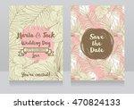 wedding invitations in tropical ... | Shutterstock .eps vector #470824133