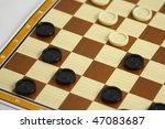 a game of checkers or draughts | Shutterstock . vector #47083687