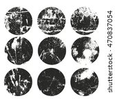 set of grunge circles labels.... | Shutterstock .eps vector #470837054