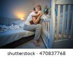 cute baby boy got scared at...   Shutterstock . vector #470837768