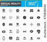 virtual reality solid icons set.... | Shutterstock .eps vector #470838440