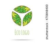 organic cosmetic mono line logo ... | Shutterstock .eps vector #470848400