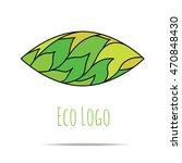 organic cosmetic mono line logo ... | Shutterstock .eps vector #470848430