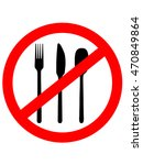 prohibition sign icon. no food. ...   Shutterstock .eps vector #470849864