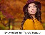 sensual beautiful young woman... | Shutterstock . vector #470850830