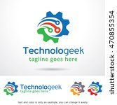 technology geek logo template... | Shutterstock .eps vector #470855354