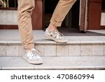 close up of man's legs in keds... | Shutterstock . vector #470860994
