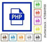 set of color square framed php... | Shutterstock .eps vector #470864900