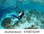 group of divers hanging around... | Shutterstock . vector #470873249