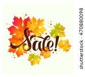autumn sale lettering  | Shutterstock .eps vector #470880098