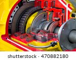 section of large diesel engine  ... | Shutterstock . vector #470882180