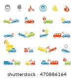 car insurance icons template.... | Shutterstock .eps vector #470886164