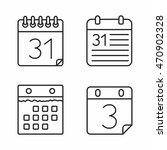 calendar icons set  minimal... | Shutterstock .eps vector #470902328