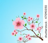 beautiful floral pattern spring ...   Shutterstock .eps vector #47090350