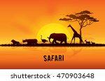 vector illustration of africa... | Shutterstock .eps vector #470903648