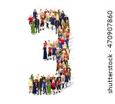 large group of people in number ... | Shutterstock .eps vector #470907860