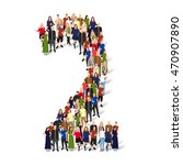 large group of people in number ... | Shutterstock .eps vector #470907890