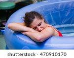 beautiful young woman during... | Shutterstock . vector #470910170