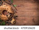 blueberry  cake. background. | Shutterstock . vector #470910620