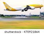 Small photo of Taiwan - Aug.,19: Scoot low cost carrier Boeing 777 take-off at TPE Airport on Aug., 19, 2016 in Taiwan