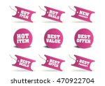 pink discount tags  sticker  ... | Shutterstock .eps vector #470922704