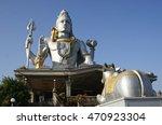 statue of lord shiva in...   Shutterstock . vector #470923304