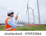electrical engineers working at ... | Shutterstock . vector #470925866