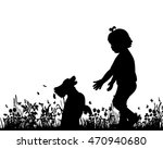 vector  isolated  silhouette of ...