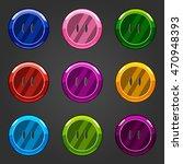 set of multicolored vector...