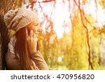 woman talking on smart phone in ... | Shutterstock . vector #470956820