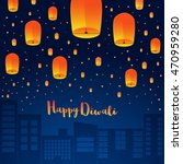 happy diwali holiday background ... | Shutterstock .eps vector #470959280