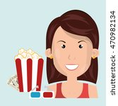 woman movie video theater... | Shutterstock .eps vector #470982134