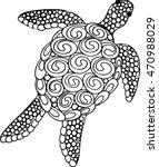hand drawn zentangle doodle...   Shutterstock .eps vector #470988029