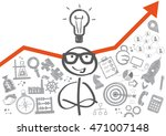 stick figure and business plan... | Shutterstock .eps vector #471007148