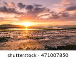 Small photo of long espouse of sunset at over the firth of forth, scotland