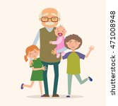 grandfather with his... | Shutterstock .eps vector #471008948