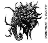 harsh military elephant horns... | Shutterstock .eps vector #471020549