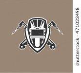 retro vintage design logo with... | Shutterstock .eps vector #471023498